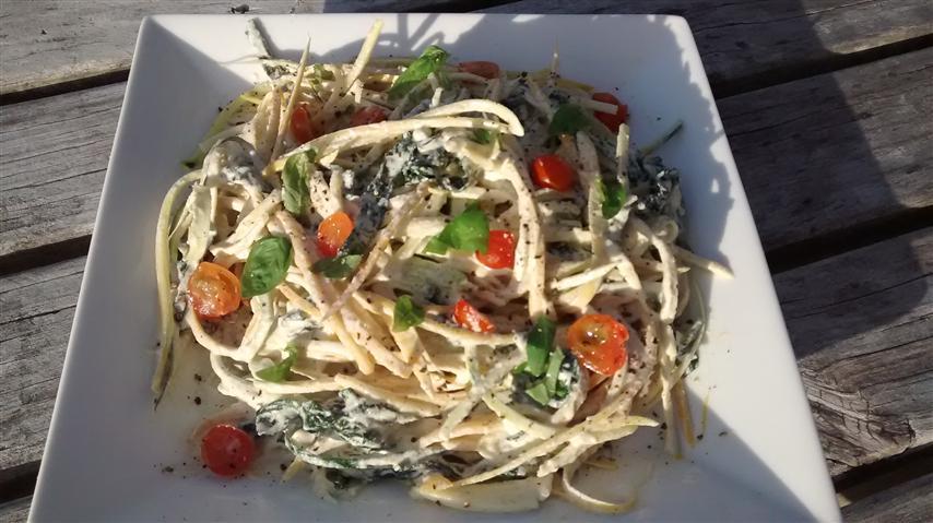 zucchini noodles in alfreda sauce (Small)