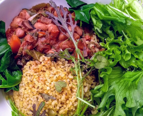Borlotti bean stew