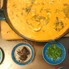 Mushroom Chickpea Masala