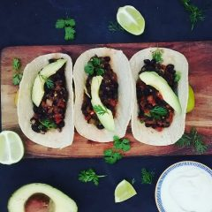 black bean tacos (Small)